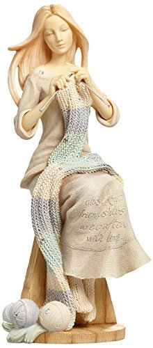 Enesco Foundations by Karen Hahn Crafting Friendship Figurine, 6.89-Inch [Misc.]