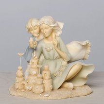 Enesco Foundations Grandmother and Child at Beach Figurine, 4.92-Inch [Misc.]
