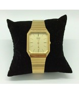 Vintage Citizen Men's Gold Tone Wristwatch Jewelry New Battery - $49.49