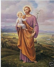 """Catholic Print Picture Saint Joseph with Jesus 8x10"""" ready to be framed - $14.01"""
