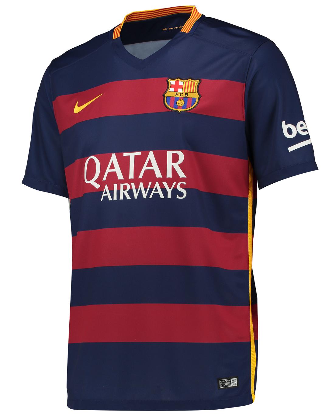 Barcelona #11 NEYMAR JR Home 2015-16 Men Soccer Jersey ...