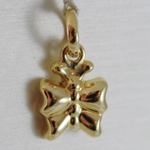 18 K Yellow Gold Rounded Mini Butterfly Charm Pendant 0.75 Inches Made In Italy - $127.68