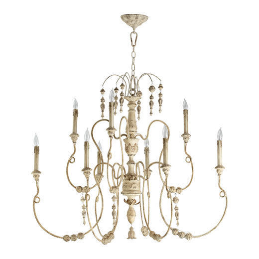 Primary image for Horchow Neiman Marcus 9 light Beaded French Modern 2 Tier Chandelier Large