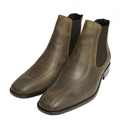 Handmade men Olive green Chelsea leather boots, Men chelsea leather boots