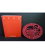 Avon Cast Iron Country Goose Trivet or Wall Hanging Bright Red Holly Chr... - $6.95