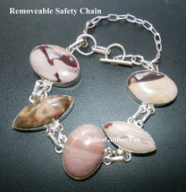 Jasper Adjustable S80 Silver Bracelet With Removable Safety Chain- (0343) - $37.00