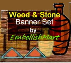 Shop Banner Header Profile Icon Avatar Brown Gold Orange Woodcrafting De... - $18.00