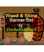 Shop Banner Header Profile Icon Avatar Brown Gold Orange Woodcrafting De... - $15.00
