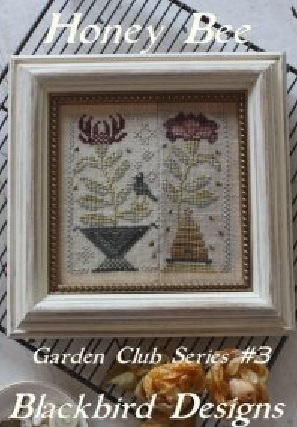 Honey bee 3 garden club series cross stitch chart for Garden club book by blackbird designs