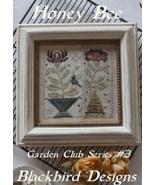 Honey Bee #3 Garden Club Series cross stitch chart Blackbird Designs  - $8.10