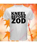 Smallville Superman Kneel Before Zod Logo Symbol White Tee T-Shirt - $14.90