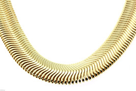 """Mens 30"""" Inch 14K Gold Plated 14mm Flat Herringbone Dome Necklace Chain ... - $24.75"""