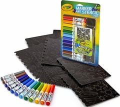 Crayola Airbrush Marker and Stencil Pack 04-8735 ~~FREE SHIPPING~~ KIDS ... - $6.72