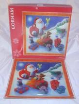 "New Gorham Large Square Platter Santa Christmas Holiday Great Gift 14""X 14"" NIB - $23.99"