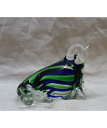 Vintage Hand Blown Art Glass Seal Figurine // Paperweight - $15.00