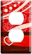 2 HOLE RED OUTLET COVER PLATE FOR MICKEY MOUSE & MINNIE KISSING THEAM RO... - $8.99