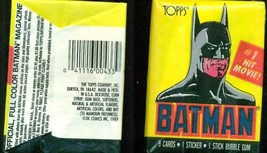 BATMAN Topps Trading Cards 1st series (1989) two unopened packs as shown... - $9.89