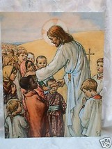 Cicely Mary Barker JESUS with Children Religious Catholic Print Ready to frame - $16.82