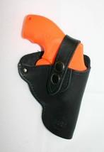 "SMITH & WESSON MODEL 63 Snub Nose 1-3"" bbl Leather Belt Clip Gun Holster... - $23.33"