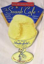 Swank Cafe Butterfield's Ice Cream Die cut Rustic/Vintage Metal Sign - $25.00