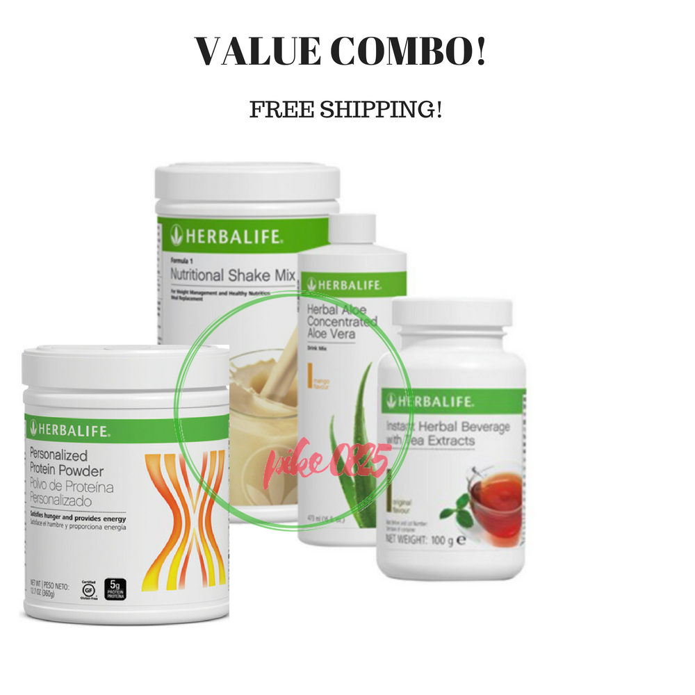 Primary image for HERBALIFE FORMULA 1 SHAKE, PERSONALIZED PROTEIN, ALOE CONCENTRATE AND HERBAL TEA