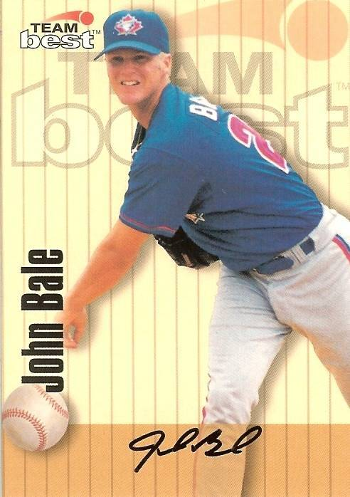 Primary image for 1998 team best autograph john bale blue jays baseball card