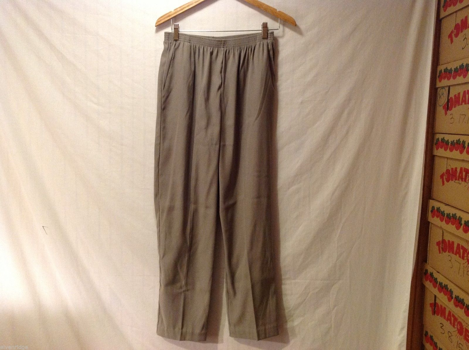Alfred Dunner Womens Army Green Pants, Size 12