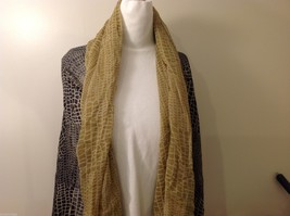 Earth Toned Patterned Scarf, New!