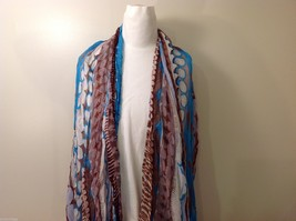 Multi-colored Patterned Crinkle Scarf, New!