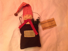 Snowman in a Black Bag Christmas Ornament by Primitives by Kathy  Let It Snow