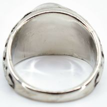 Vintage Inspired Silver & Black Painted Color Changing Round Cabochon Mood Ring image 4