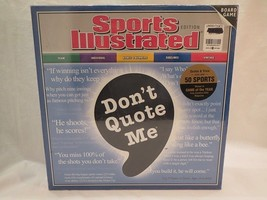 Sports Illustrated Don't Quote Me Board Game* Sealed* Mint Cond No Reserve - $9.70
