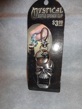 "BITING SKULL DESIGN MYSTICAL METAL 3"" BOTTLE OPENER KEYCHAIN WITH CLIP - $1.93"