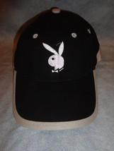 BLACK WHITE AND GREY BUNNY BASEBALL CAP HAT ADJUSTABLE TWEEN SIZED - $2.92