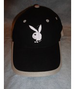 BLACK WHITE AND GREY BUNNY BASEBALL CAP HAT ADJUSTABLE TWEEN SIZED - $2.92