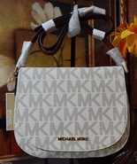 NWT Michael Kors Signature Bedford Medium Flap ... - $189.00