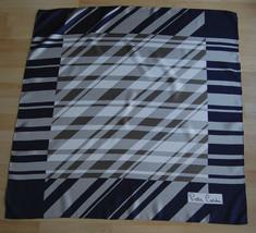 Gorgeous VTG Pierre Cardin Silk Square Scarf Geometric Mod Op Blue Plump... - $44.90 CAD