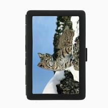 Bobcat D2 Black Cigarette Case / Metal Wallet Predator Hunter Feline Mountian - $6.88