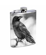Crow D7 8oz Stainless Steel Flask Goth Dark Black Bird Raven Carrion - $10.84