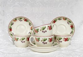 Wedgwood Provence ~ Queen's Ware 4 Cup And Sauc... - $39.35