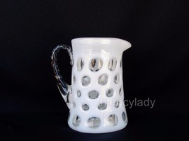 Vintage Fenton French Opalescent Creamer Coin Dot Creamer Pitcher 1461FO - $47.50
