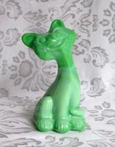 Fenton Chameleon Green Happy Cat FAGCA  Great Collectible - $79.50