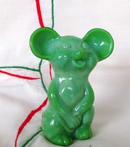 Fenton Glass Chameleon Green Mouse 2007 NFGS in Original Box - $69.50
