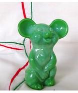 Fenton Glass Chameleon Green Mouse 2007 NFGS in Original Box - $69.50