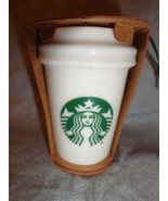 STARBUCKS 2015 TRADITIONAL CUP HOLIDAY TO GO CUP ORNAMENT CERAMIC NEW - $14.80