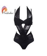Andzhelika Bikini Woman Push Up Swimwear Sexy Mesh Patchwork Bikinis Set... - $34.39
