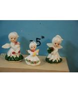 Vintage Trio 3 Little Christmas Angels Figurine... - $8.59