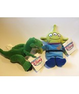 "Toy Story 2 Disney Store Rex Alien Plush Bean Filled Toys 8"" - 9"" NWT NEW - $15.91"