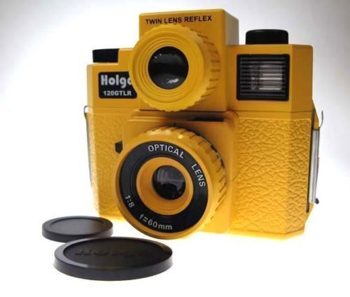 NEW HOLGA 120 GTLR Yellow TLR TWIN LENS REFLEX MEDIUM FORMAT CAMERA w/4C FLASH