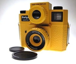 NEW HOLGA 120 GTLR Yellow TLR TWIN LENS REFLEX MEDIUM FORMAT CAMERA w/4C... - $54.49
